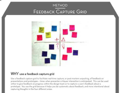 Feedback capture grid